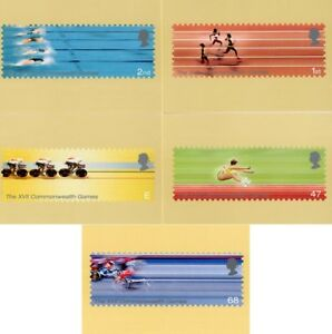 16 JULY 2002 COMMONWEALTH GAMES SET OF ALL 5 PHQ CARDS 243 MINT