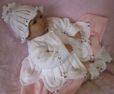 KNITTING PATTERN TO MAKE *ROSSETTI* BABY MATINEE SET TO FIT NEWBORN SIZE