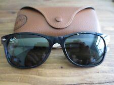Ray Ban black / beige frame New Wayfarer mirror sunglasses. RB 2132. With case.