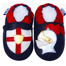 Littleoneshoes(Jinwood) Soft Sole Leather Baby Infant Kids KnightNavy Shoes 0-6M
