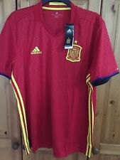 BIG SALE  Men's Spain Spanish  home football shirt jersey Size  M Adidas 2016