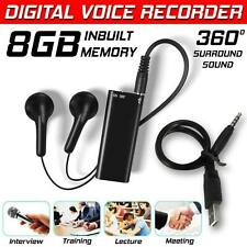 More details for 8gb mini spy audio recorder voice listening device 96 hours bug recording