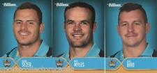 2015 NRL ESP TRADERS FACES OF THE GAME GOLD COAST TITANS ALL 3 CARD TEAM SET