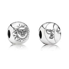 NEW! AUTHENTIC PANDORA SILVER CHARM  DAY AND NIGHT CLIP #791208CZ