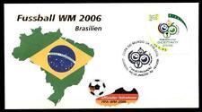 Fußball. WM-2006, Deutschland. FDC(1). Brasilien 2006