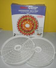 Nesco Snackmaster Add-A-Tray LT-2SG Accessory Dehydrator Trays 2-Pack Never Used