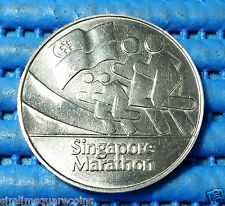 1982 Singapore The Inaugural Official Singapore Marathon Medallion