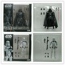 2Pcs Star Wars revo Galactic Heroes blcak&white soldiers Action Figure A57B