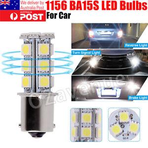 2x / 4x White 1156 27SMD 5050 LED 12V Super Bright Light BA15S Car Lamp Bulb AU