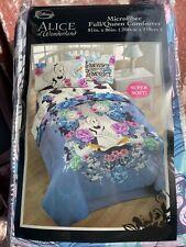 Disney Official Licensed Alice in Wonderland Flower Garden Full/Queen Comforter