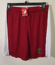 NWT Adidas Real Salt Lake MLS Mens Replica Shorts L Red/White MSRP$40