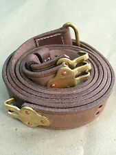 U.S. US M1918 BAR B.A.R. Leather Sling (Repro) NATURAL OILED LEATHER