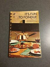 1970 It's Fun To Fondue Switzerland's Easy To Cook Meals Spiral Paperback