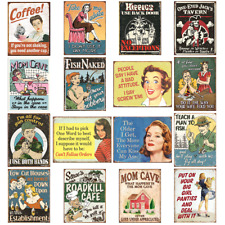5pc - 25pc Wholesale Lot Theme Tin Signs, Comics, Super Heroes, Humor - Bulk Lot