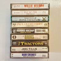 Country Music Cassette Tape LOT Willie Nelson Ronnie Milsap Kenny Rogers Tractor