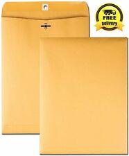 New listing 100 Business Envelopes 10x13 Kraft Clasp Manila Catalog Yellow Brown Flap 100pcs