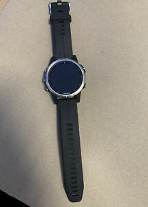 Garmin Fenix 5s Plus Premium Multisport GPS Watch, Black/Silver