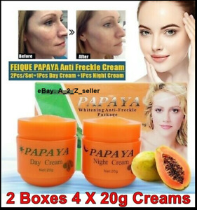 2 X Papaya Anti Freckle Spots Face Skin whiten fa cream Brightening Day Night UK