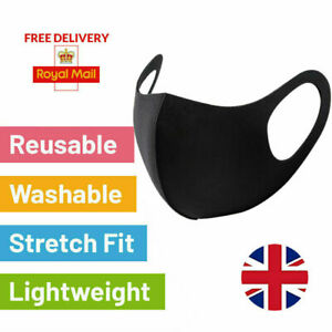 Face Masks Washable UK Breathable Unisex Reusable Protection Face Mask 3D UK