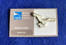 More details for rspb- 2013 # 1 pin badge snowy owl (✅) **free post**