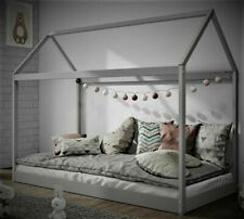 Kids Children Teepee & Tree House Solid Pine Wood Single Bed Grey Kids & Adult