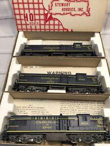 Stewart Hobbies HO Scale Baldwin AS-616 pwd Chesapeake & Ohio. # 5564,5539,5568
