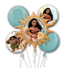 Disney Moana Balloon Bouquet Girl's Birthday Party Decoration Supplies ~5pc Maui