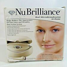 NuBrilliance Real Microdermabrasion At-Home Kit Reduce Fine Lines & Wrinkles