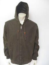 CC FILSON CO. BUCKLAND Cover Cloth Zip Up Hooded Jacket Size LARGE
