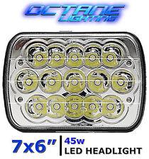 7X6 Crystal Chrome LED HID Cree Light Bulbs Clear Sealed Beam Headlamp Headlight