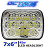 "Jeep Wrangler LED HID Cree Light Bulbs Clear Sealed Beam Headlamp Headlight 7x6"""