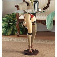 PD2120 - Babette - Heels, Garter, Seamed Stockings Sculptural Table w/Glass Top