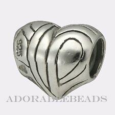 Authentic Chamilia Sterling Silver Heart Bead GA-5  *RETIRED*  SALE!!!
