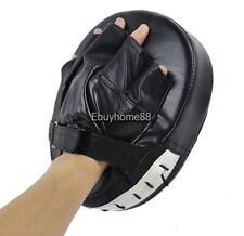 Black Boxing Mitt Training Target Focus Punch Pad Glove MMA Karate Muay Kick Set