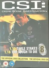 CSI: Disc 8 (1.15 Table Stakes, 1.16 Too Tough To Die) Official DVD (Free Post)