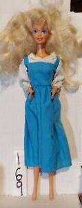 Mattel Disney Beauty & The Beast Blue Peasant Dress on Vintage Barbie doll