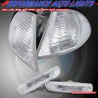 Set of 4pcs Clear Corner + Sidemarker Lights for 99-01 BMW E46 3-Series Sedan