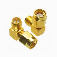 SMA RP Male to SMA RP Female Connector 90° Right Angle RF Coax Jack Plug Adapter