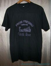 Vintage Screen Stars From Fresno California With Love 50/50 Black T-Shirt L USA