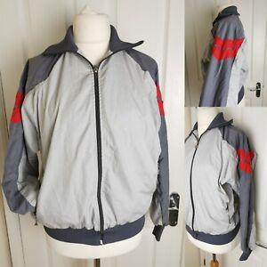 Vintage Luippold Grey Red Zip Up Ski Jacket Unisex Men's Size M Women's Size 14