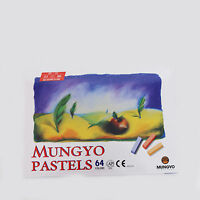 Mungyo Soft Pastels 64 Colors Set Half Length Square Vivid Brilliant Crayon