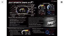 Defi Sports Display F (DSDF) ADVANCE CONTROL SET(TURBO, TEMP , PRESS SENOR)