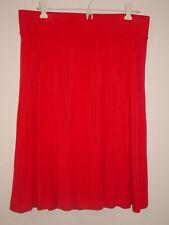 J Crew pink knit skirt yoga gathers front back pockets slip on elastic waist-M
