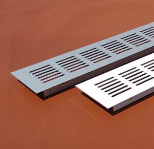Aluminium Lüftungsgitter Stegblech viele Farben,Höhen und Längen mit Schutzfolie