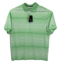 NIKE Golf Tour Performance Dri Fit Green Stripe Polo Shirt Men's Sz XL NEW $65
