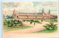 HOLD TO LIGHT Postcard Palace of Varied Industries 1904 St Louis Worlds Fair B07