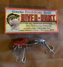 Vintage NOS Heddon B110-XRS Spook Sinker River Runt Fishing Lure New in Box