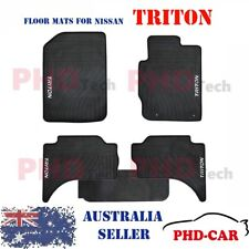 Premium All Weather Rubber Car Floor Mats for Mitsubishi Triton 2006-15 Dual Cab