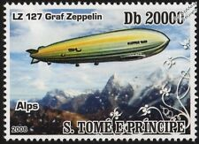 LZ.127 GRAF ZEPPELIN Airship Aircraft Over The Alps Mountains Stamp