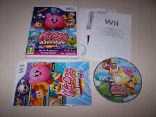 Kirby'S ADVENTURE-Nintendo Wii-REGNO UNITO PAL-BOXED & Completo-In buonissima condizione COND
